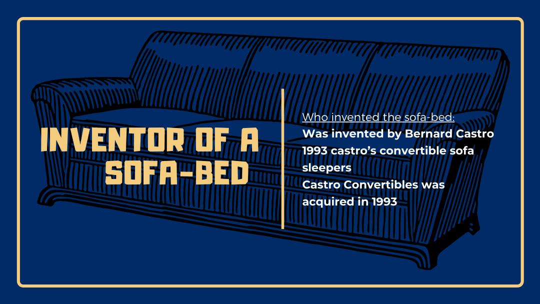 Who invented the sofa-bed?
