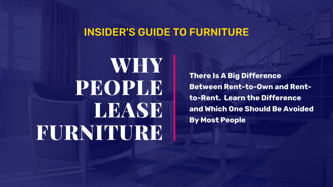 Why do people lease to own furniture instead of buying?