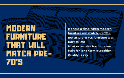 Do you think furniture will ever again be made well enough to last a lifetime like it was pre-70's?
